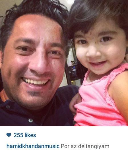 حمید خندان خواننده پاپ و دخترش تصاویر
