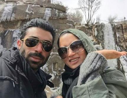تازه ترین تصویر روناک یونسی و همسرش محسن میری عکس