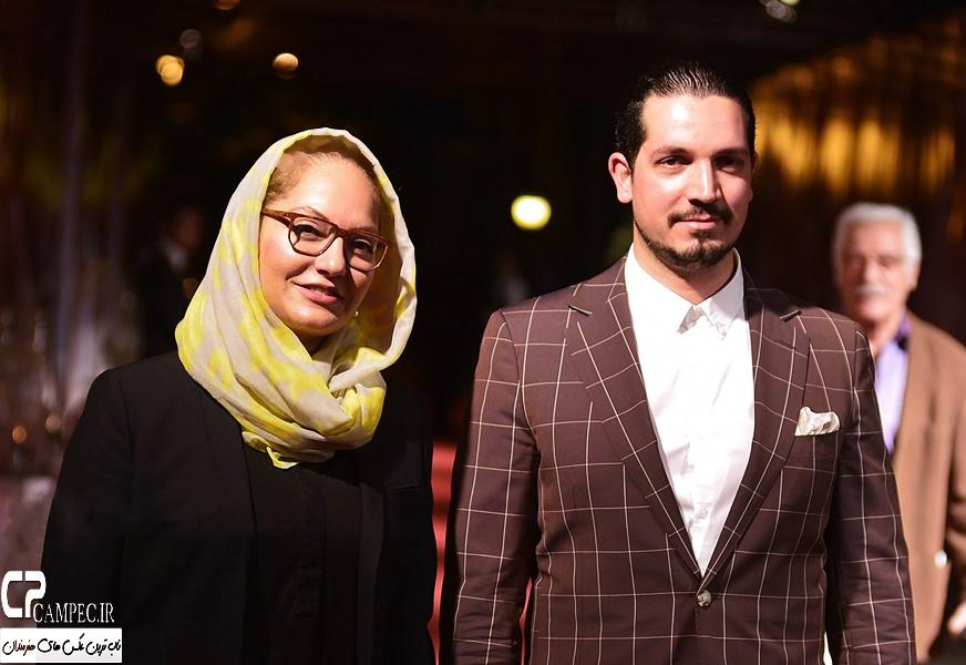 مهنا افشار و همسرش در جشن روز ملی سینما در سال 94 تصاویر