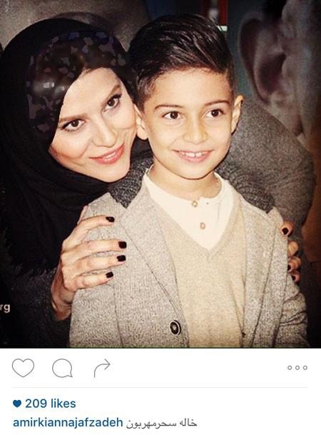 پسر کامران نجف زاده با پدرش و سحر دولتشاهی تصاویر
