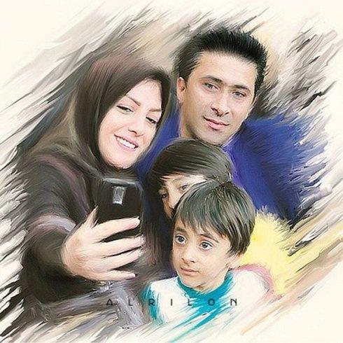 طرح جالب مجری ورزشی شبکه خبر و همسرش تصاویر
