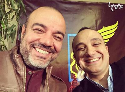 سلفی احسان کرمی با برندگان بازیگری جشنواره فیلم فجر 33 تصاویر