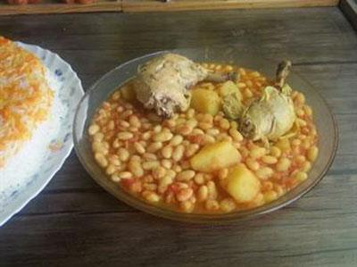 فاصولیا با مرغ و لوبیا سفید، غذایی عربی بسیار لذیذ! عکس