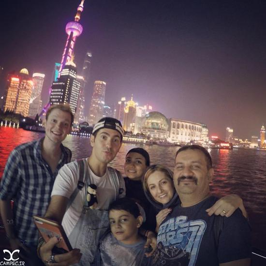 عکس های جالب شقایق دهقان با خانواده اش در سفر به چین