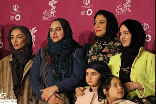 عکس های بازیگران مشهور فیلم نفس در فرش قرمز جشنواره فیلم فجر