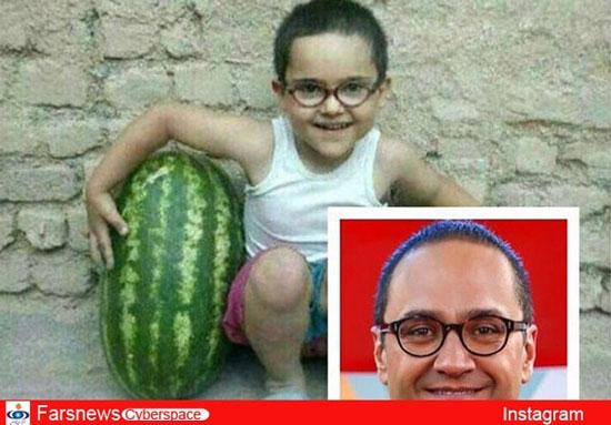 کودکی رامبد جوان با هندوانه
