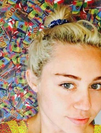 مایلی سایرس خواننده 24 هالیوودی بدون آرایش! تصاویر