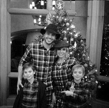 عکسهای کریسمسی بریتنی اسپیرز و فرزندانش! عکس