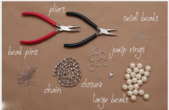 آموزش ساخت گردنبند مروارید با وسایل و روشی بسیار ساده