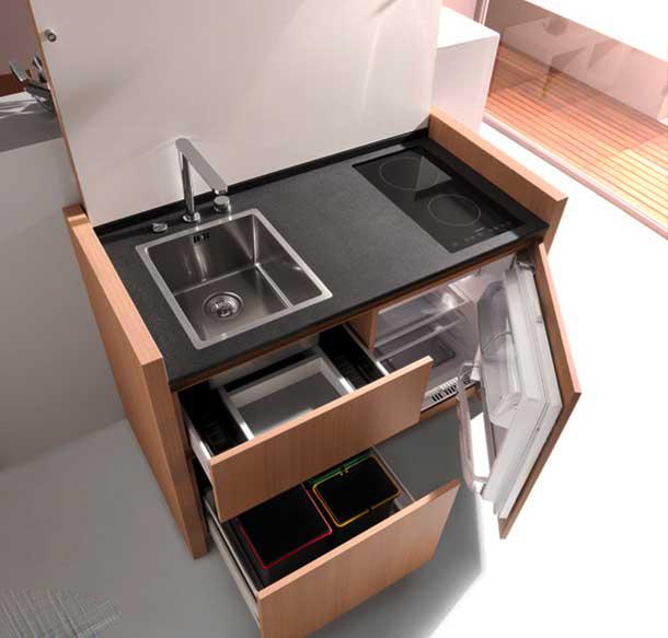 چیدمانی شگفت انگیز برای آشپزخانه کوچک شما