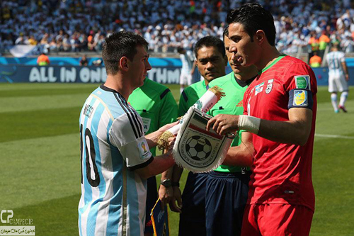 دیدار تیمهای فوتبال ایران و آرژانتین - جام جهانی 2014 برزیل