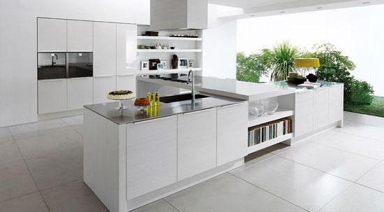 با کابینت سفید آرامش را به آشپزخانه خود بیاورید تصاویر