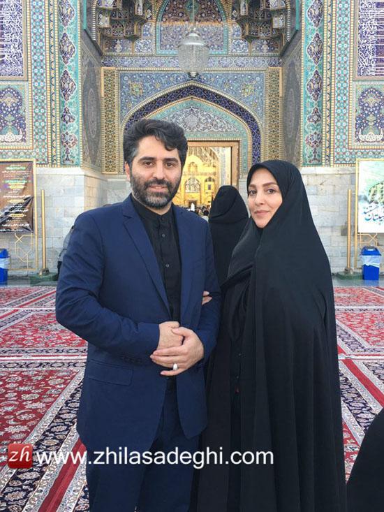 اولین سفر دو نفره ژیلا صادقی مجری مشهور تلویزیون با همسرش بعد از عروسی