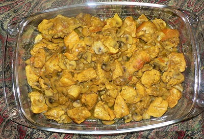 خوراک فیله مرغ با قارچ ، ساده اما بسیار لذیذ! عکس