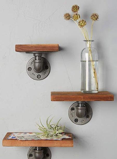 خلاقانه ترین مدل های قفسه و شلف چوبی اتاق نشیمن شیک و مدرن