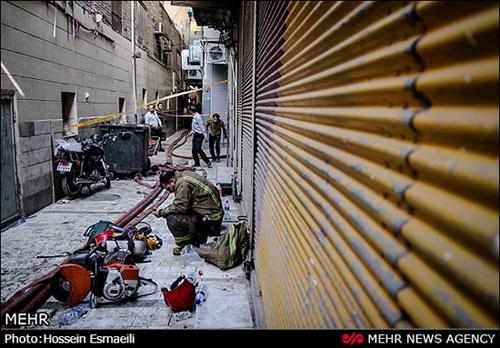 آتش سوزی هولناک در بازار بزرگ تهران