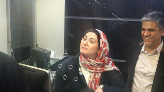 بلیت فروشی باران کوثری در سینما تصاویر