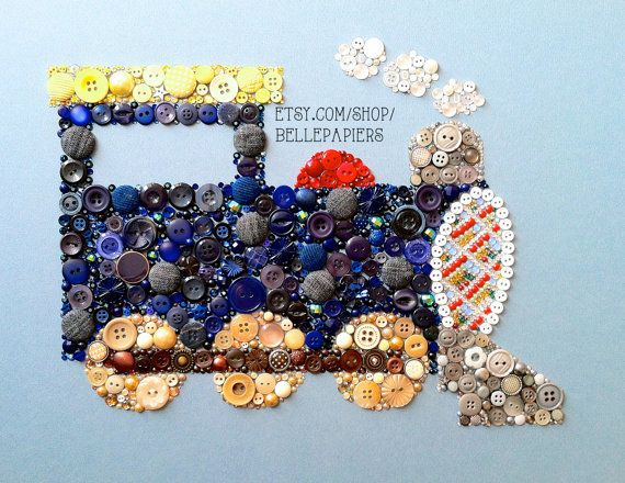 ساخت کاردستی تابلوهای زیبا از جنس دکمه های رنگی  تصاویر