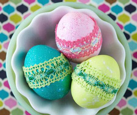 تزئین تخم مرغ هفت سین 93 با کاموا!  تصاویر