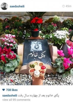 سنگ قبر سگ یک بازیگر ایرانی! عکس