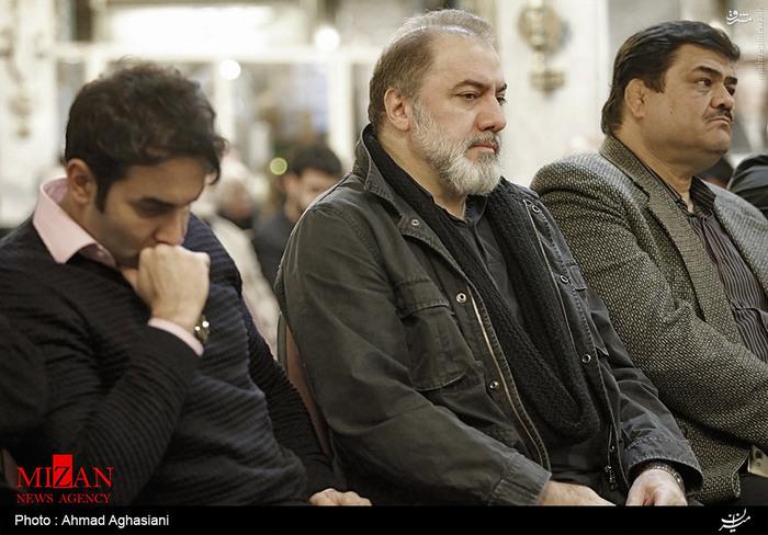 حضور افراد مشهور در مراسم ختم پدر اکبر عبدی تصاویر