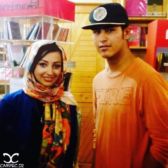 نفیسه روشن و همسرش در مراسم رونمایی از آلبوم مهدی یغمایی