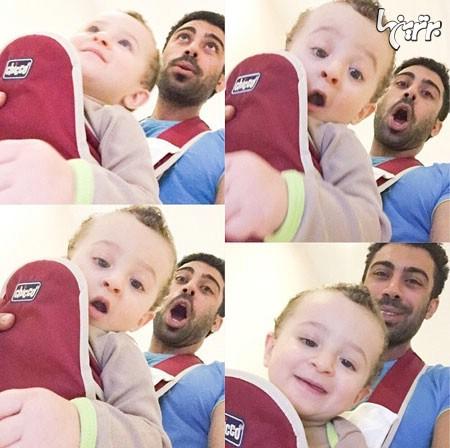 تصویر جدید و دیدنی همسر و پسر روناک یونسی عکس