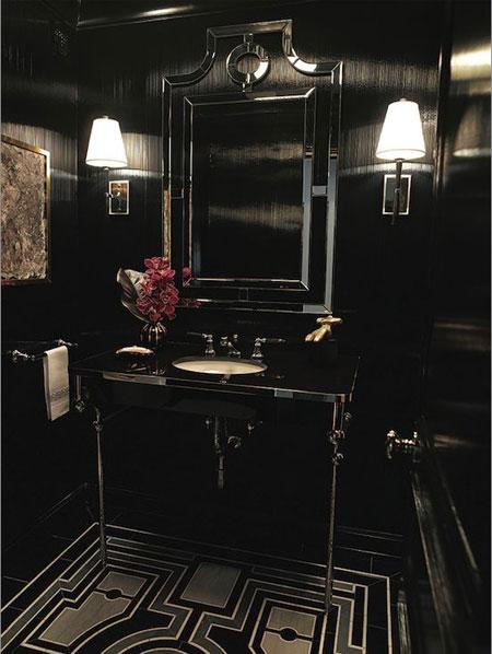 دکوراسیون مشکی فوق العاده شیک حمام و دستشویی  تصاویر