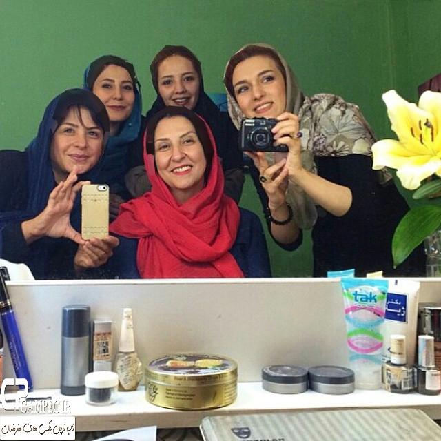 عکس های جالب بازیگران زن در پشت صحنه سریال نفس گرم