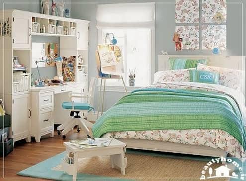 دکوراسیون اتاق خواب دختران نوجوان زیبا و شیک  تصاویر