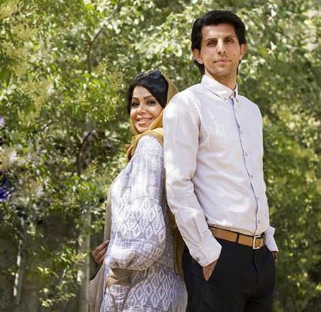 تصویری از وحید طالب لو و همسرش