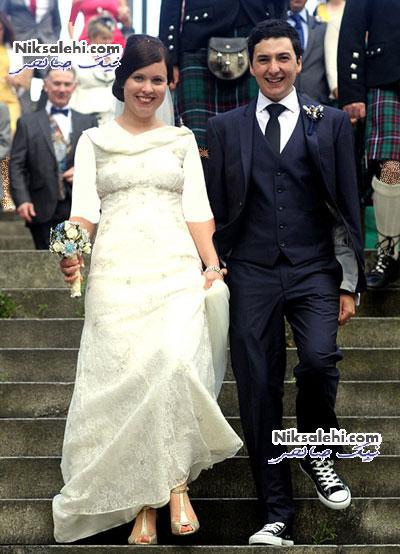 تصاویر یک مراسم عروسی در مترو