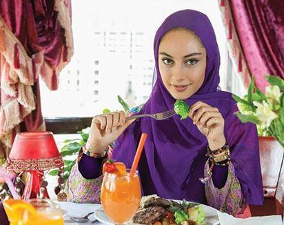 تغذیه سالم به سبک ترلان پروانه بازیگر جوان ایرانی تصاویر