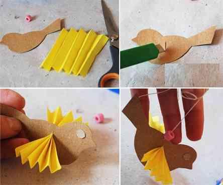 آموزش ساخت قفس بسیار ساده با کاغذ رنگی تصاویر