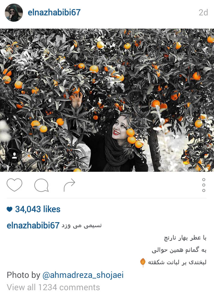 الناز حبیبی بازیگر جوان کشورمان و عکسهای زیبایش تصاویر