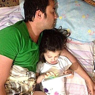 عکسهای پدر و دختری زیبا از بنیامین بهادری و بارانا!