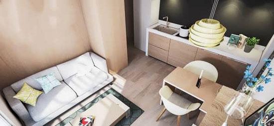 دکوراسیون خانه کوچک با سبک اروپایی شیک و مدرن