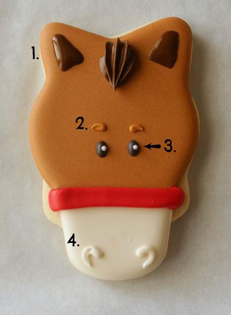 تزیین شیرینی های نوروزی به شکل اسب