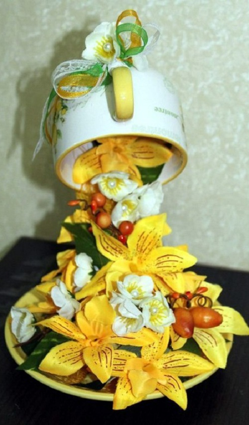 ساخت کاردستی فنجان جادویی  تصاویر