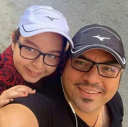 عکسهای جالب شهرام قائدی و دخترش تصاویر