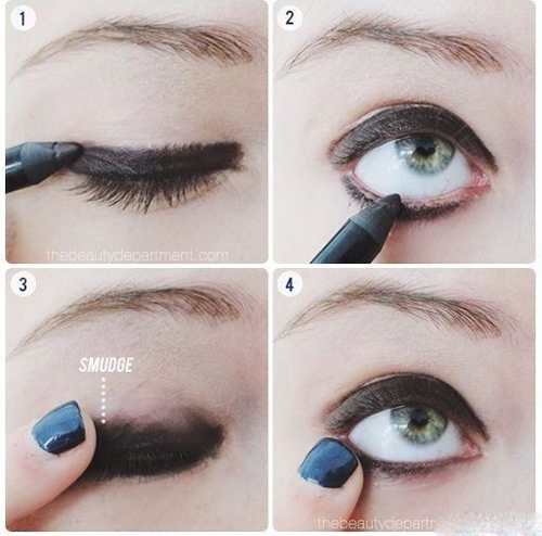 آموزش آرایش چشم دودی به همراه سایه اکلیلی تصاویر