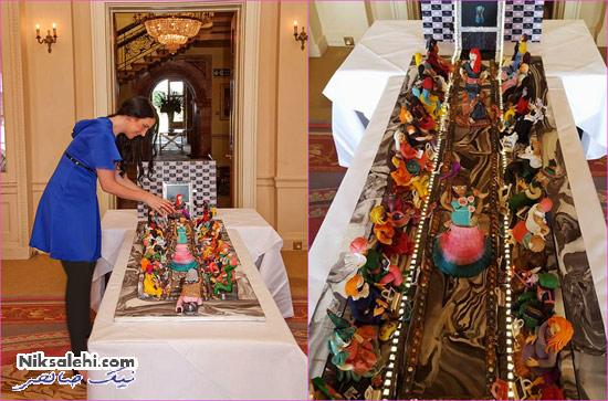 کیک گرانقیمت یک خانواده عرب به شکل فشن شو