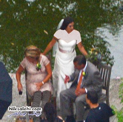 تصاویر لو رفته از عروسی دختر سیاستمدار امریکا با داماد عجیبش