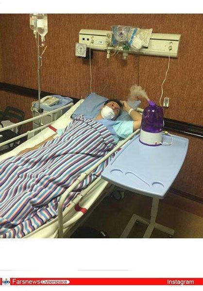برادر بهنام تشکر در حال مبارزه با بیماری اش تصاویر