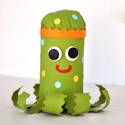 آموزش ساخت عروسک اختاپوس بسیار جالب با فوم تصاویر