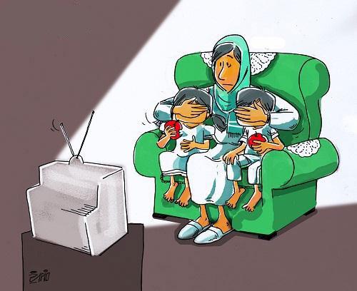 مجموعه کاریکاتورهای تماشای تلویزیون