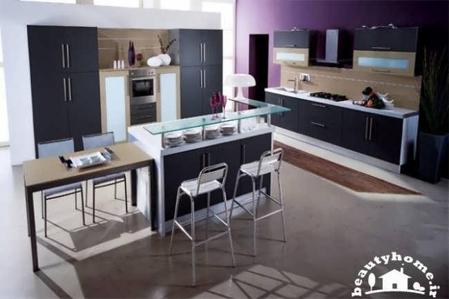 دکوراسیون آشپزخانه با طرح های متفاوت و مدرن  تصاویر