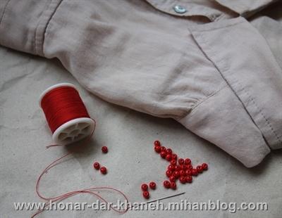 تزیین یقه پیراهن تصاویر