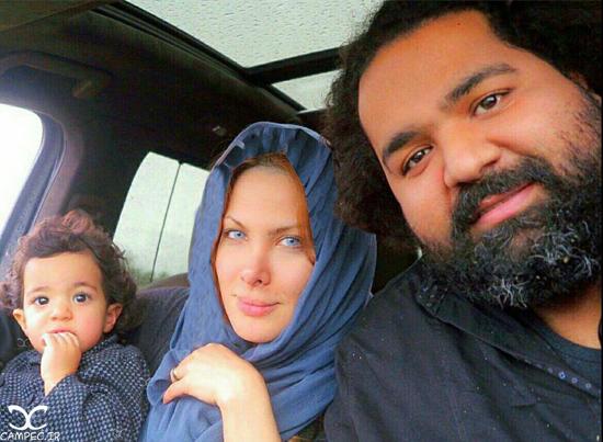 عکس های جدید و زیبای رضا صادقی با همسر و دخترش تیارا