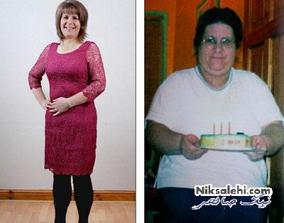 زنی که نمی خواست یک خانم 40 ساله چاق باشد